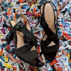 Calvin Klein black stiletto April heels sz 8.5